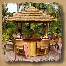 Gazebo With Bar Table Cabanas And Tiki Bars Safari Thatch Inc