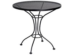 Wrought Iron Mesh Patio Furniture by Woodard Parisienne Wrought Iron 30 Round Mesh Top Bistro Table