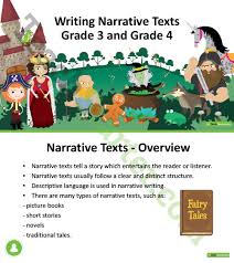 writing narrative texts powerpoint grade 3 and grade 4 teaching