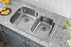 Soleil  X  Stainless Steel Drop In Double Bowl Kitchen Sink - Kitchen double sink