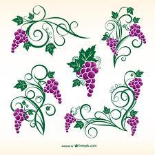 grapevine ornaments vector free