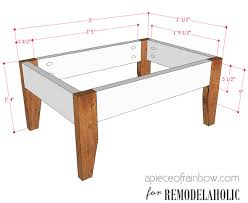 Patio Table And Bench Remodelaholic Build An Easy Patio Set With Benches And A Coffee