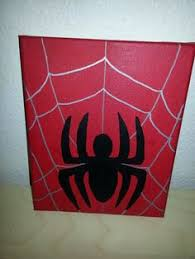 spider man logo acrylic painting canvas embossed