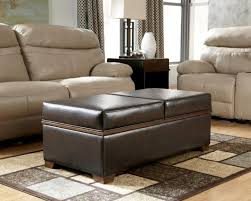Ottoman Styles Table Leather Upholstered Coffee Table Cushioned And Shower
