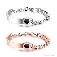 stainless steel cuff bangle bracelet images Women bracelets roman numerals link chain stainless steel cuff jpg
