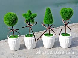Small Desk Plants by 4pcs Set Promotion Artificial Mini Bonsai With Pot Home Desk Deco