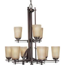 progress lighting riverside collection 9 light heirloom chandelier