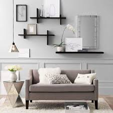 decorate shelves how to decorate a living room wall wall shelves