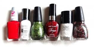bold diy christmas nail art with rhinestones styleoholic