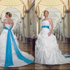 blue an white wedding dresses aliexpress buy strapless low back a