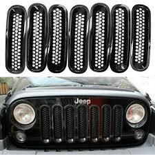 amazon com jeep wrangler jk amazon com danti 7pc latest design black front grill mesh grille