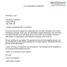 Fundraising Letter Sles For Donations Sles Of Non Profit Fundraising Letters With Charity Donation