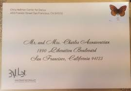 save the date envelopes sf ballet save the date cards envelope calligraphy invitation
