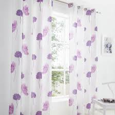 Lilac Curtains Tuscany Purple Fully Lined Ring Top Voile Curtains Pair