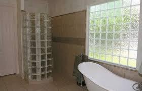 Glass Block Bathroom Designs Bathroom Minimalist With Small Glass Block Window Idea Design Walk