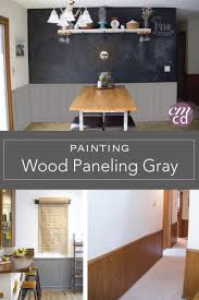 How To Paint Over Wood Paneling by Painting Paneling Before And After