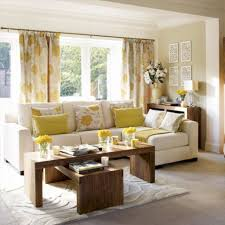 Decorating Ideas With Sectional Sofas Floral Printed Curtain For Country Styled Living Room Decorating