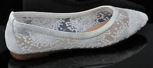 ballerine mariage ivoire lacets mariage ballerine nuptial plat chaussures ebay