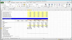 Discounted Flow Analysis Excel Template Financial Modeling Lesson Building A Discounted Flow