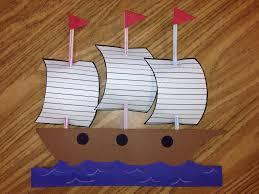 christopher columbus craft mayflower craft 1st grade students