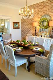 wicker home decor love the black brown table mixed with white chairs and wicker