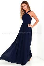 of romance navy blue maxi dress