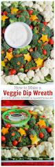 how to create a festive veggie dip