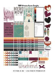 erin condren life planner free printable stickers free printable bohemian dreams sler for the happy planner on