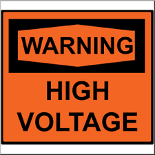 clip art electricity warning high voltage sign color i abcteach