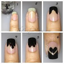 chevron tape nail art tutorial heart valentine u0027s nails the crafty ninja