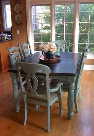 blue painted dining table slate blue chalk paint distressed top refinished 800 ideas