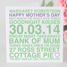 Mother Day Card by Personalised Mother U0027s Day Card And Tag By Megan Claire