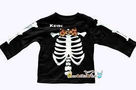 Skeleton Bones For Halloween by Halloween Skeleton Bones Costume Tee Shirt With Orange Jack O