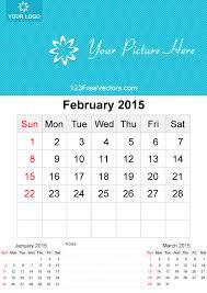 february 2015 calendar template vector free 123freevectors