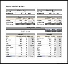 free personal budget tracker template bi weekly excel download