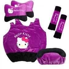 bantal mobil 6 1 kitty ungu jual murah sarung sandaran