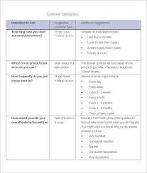 customer satisfaction report template survey template questionnaire template all form templates