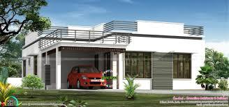 flat roof single floor home in 1300 sq ft kerala home 2 floor