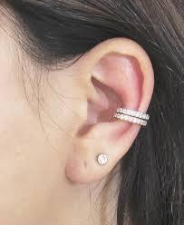 cuff ear sterling silver ear cuff cz pave ear cuff 18k gold vermeil