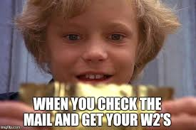 W 2 Meme - image tagged in taxes golden ticket w2 imgflip