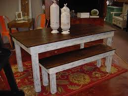 farm tables with benches rustic farmhouse table and bench the uniqueness and the common