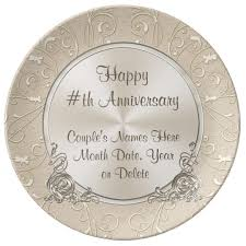 personalized anniversary plate any year personalized anniversary plate zazzle
