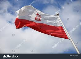 flag poland on blue sky outdoor stock photo 525687760 shutterstock