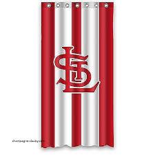 Curtains St Louis Curtains St Louis Cardinals Shower Curtain Fresh Cardinals Shower