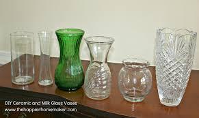 Milk Glass Vase Diy White Faux Ceramic And Milk Glass Vases The Happier Homemaker