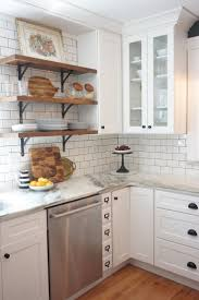 Wall Mounted Breakfast Bar White Kitchen Cabinets With Dark Countertops Dark Brown Laminated