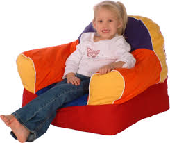 multicolored foam filled soft chair