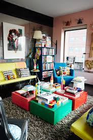 Bright Furniture Colors Home Tour Bright Color And Paint Ideas Nyc Apartment
