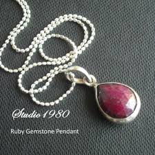 silver necklace ruby images Buy genuine red ruby pendant chain silver tear drop pendant jpg