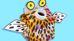 cardboard craft for kids owl box minis on box yourself youtube